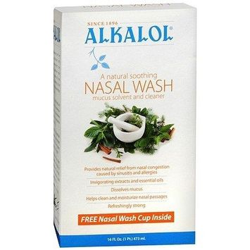 Alkalol Nasal Wash Mucus Solvent and Cleaner 16.0 fl oz(pack of 3)