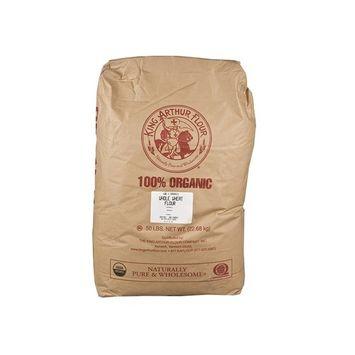 100% Organic Whole Wheat King Arthur Flour - 5 Pounds