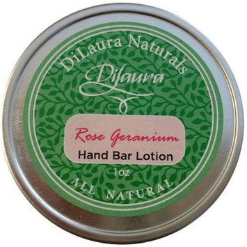 Dilaura Naturals Rose Geranium Hand Bar Lotion, 1 oz