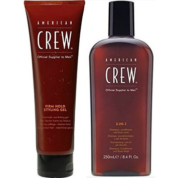American Crew Groom To Win Combo Deal: American Crew Firm Hold Styling Gel, Firm, 8.4 Ounce Tube + American Crew Classic 3-in-1 Shampoo plus Conditioner, 8.4 Ounce : Beauty