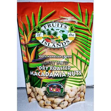 FRUITS OF THE ISLANDS Lightly Salted Macadamia Nuts, 10 OZ