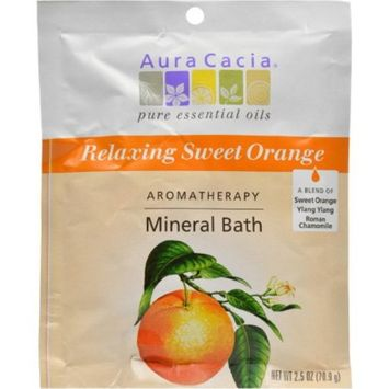 Aura Cacia Aromatherapy Mineral Bath Relaxing Sweet Orange, 2.5 OZ (Pack of 6)