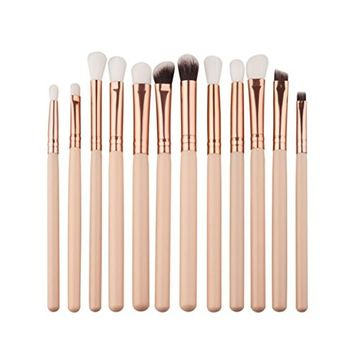Makeup Brush, Hatop 12Pcs Mini Cosmetic Eyebrow Eyeshadow Brush Makeup Brush Sets Kits Tools