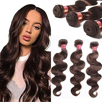 Royal Girl Hair 7A Brazilian Virgin Hair Body Wave Human Hair Extensions #2 Dark Brown 3 Bundles 300g Per Lot (10