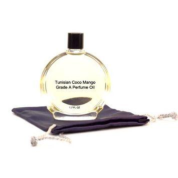 Tunisian Coco Mango Perfume Oil - 1.7 oz in Premium Glass Bottle