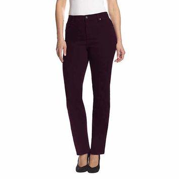 Gloria Vanderbilt Women's Amanda Slimming Stretch Denim Jeans (Sweet Burgundy, 6 Average) [name: actual_color value: actual_color-sweetburgundy]