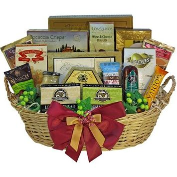Grand Edition Gourmet Food and Snacks Gift Basket, LARGE (Chocolate Option)