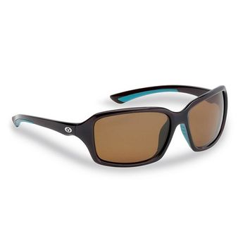 Flying Fisherman Kili Polarized Sunglasses Brown Frame with Amber Lens