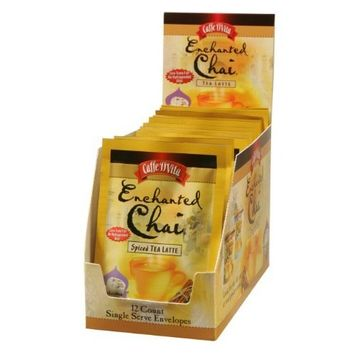 Caffe D'Vita Enchanted Chai Tea Latte Mix, 1-Ounce Envelopes (Pack of 12)