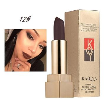 Luxury Matte Lipstick, Fheaven Modern matte finish,Waterproof,Long Lasting,High Pigment for Beautiful lips -12 Color Available