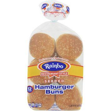 Rainbo Seeded Hamburger Buns, 12 ct