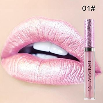 DZT1968 10ml 6colors Waterproof Long Lasting bling Liquid Velvet Matte Lipstick Makeup Lip Gloss Lip