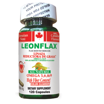 Natural Health Corporation LEONFLAX CANADIAN FLAX SEED 120CT - 100% NATURAL FAT REDUCER
