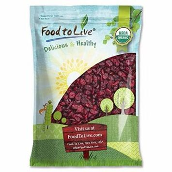 Food to Live Certified Organic Dried Cranberries (Non-GMO, Unsulfured, Bulk) (10 Pounds)