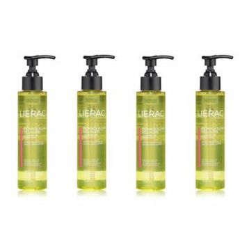 Lierac Cleansing Oil Makeup Remover for Face & Eyes, 5 Oz (Pack of 4)