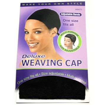 Annie Deluxe Weaving Cap #4471 -12 pack, One size fits all, multi purpose, adjustable, adults and kids,