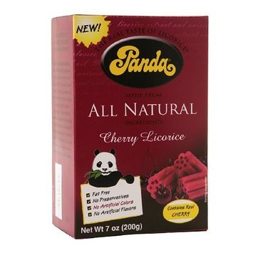 Panda All Natural Cherry Licorice - 7 oz - Case of 12 - HSG-218172