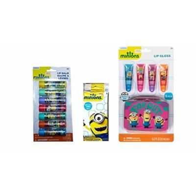Bundle of 3 Minion items. Trading Cards, Lip Balm and Lip Gloss sets