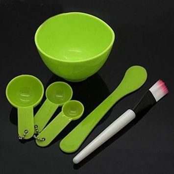 Polytree 6 in 1 DIY Facial Mask Mixing Bowl Brush Stick Spoon Tool Face Care Set