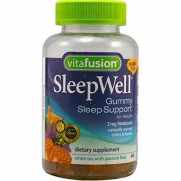 5 Pack Vitafusion SleepWell Gummies White Tea with Passion Fruit 60 Gummies Each