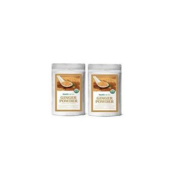 Healthworks Ginger Powder Raw Organic, 2lb (2 1lb Packs)