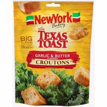 York Brand The Original Texas Toast Garlic & Butter Flavored Croutons, 5 oz (3 bags)