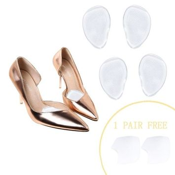 High Heels Forefoot Pads Metatarsal Pads Forefoot Cushions Silicone Transparent Gel Insole Cushion Pads(Self-Sticking & Re-Usable)-Ball of Foot Cushions
