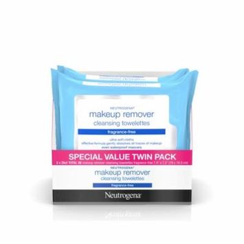 Neutrogena Fragrance Free Makeup Remover Facial Wipes, 25 ct, 2 Pack