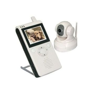 601LD 2.5 LCD Wireless Pan and Tilt Control Baby Monitor with PAL TV System