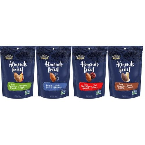 Blue Diamond Almonds & Fruit Variety 4 Flavors (Total of 8 / 5-Ounce Bags)