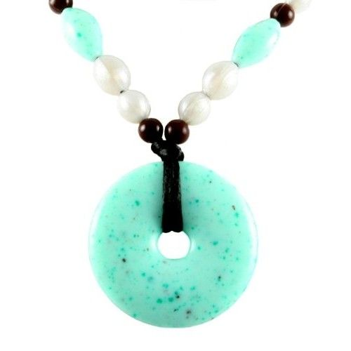 Teething Bling Beaded Turquoise Pendant Necklace by Smart Mom