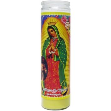 Dual Saints Scented Candle, Yellow