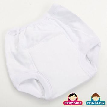 White Cotton Training Pants Size:M