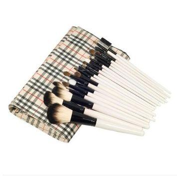 20 pcs Professional Makeup Brushes Goat Hair Eyeshadow Lip Eyeliner Brush Cosmetic Set