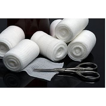 BodyHealt 24 Pack Stretch Gauze Bandage Roll with 2 Medical Tape Rolls, Sterile First Aid Wound Care, Dressing. 4 Inch Length x 4 Yards