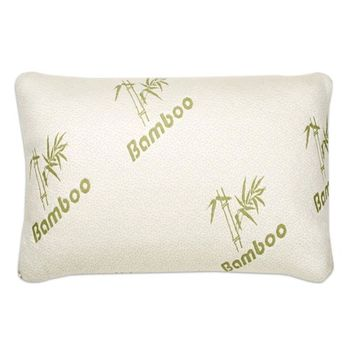 Hotel Comfort Bamboo Firm Memory Foam Pillow Cool Cover with Zipper [bed_size: bed_size-twin]