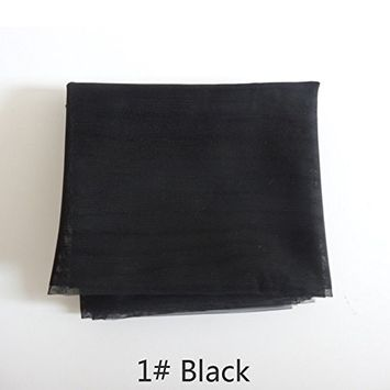 1yard Swiss Lace for Wig Making and Wig Caps Lace Wigs Material or Lace Closure(Black)