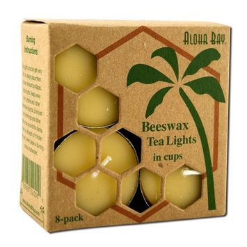 Bees Wax Tea Light Candles - 8 pack