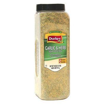 Durkee 100% Salt Free Garlic and Herb Seasoning, 18 Ounce