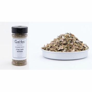 Italian Seasoning Blend - No Salt Added (Oregano, Basil, Marjoram, Thyme, Rosemary, Sage) by Gerbs - 1.35 oz. Shaker