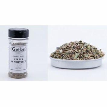 Herbes DeProvence - No Salt Added - Seasoning Blend by Gerbs - 1.85 oz. Shaker Jar - Top 12 Food Allergen Free