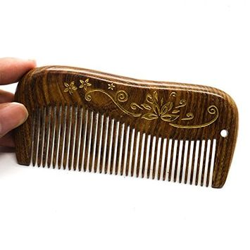 IDS Wood Comb Hair Comb Sandalwood Fine Tooth Comb Anti Static Wood Comb