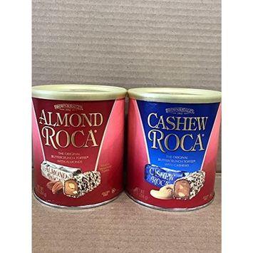 KC Commerce Almond Roca 10oz Canister Variety Pack ( Pack of 2 ) (Original & Sea salt Caramel Roca)