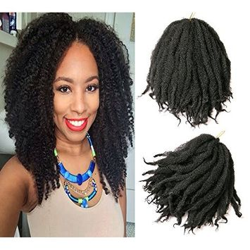 Afro Kinky Twist Hair Crochet Braids Ombre Marley Braid Hair 18inch Senegalese Curly Crochet Synthetic Braiding Hair