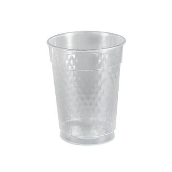 Solo TC105X-00090 10 oz Diamond Tumbler Clear Plastic Cup (Case of 500)