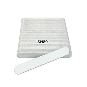 High Quality Mini Nail Files - White - Grit 80 - 50pcs