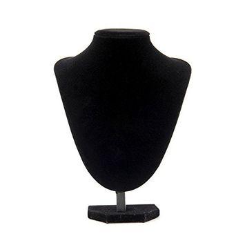 Fdrirect Black velvet Necklace Jewelry Display Bust Model Presentation #24X18cm