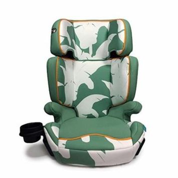 Aidia 2-in-1 Adjustable Highback Booster Car Seat w/ Cup Holder, Green/White