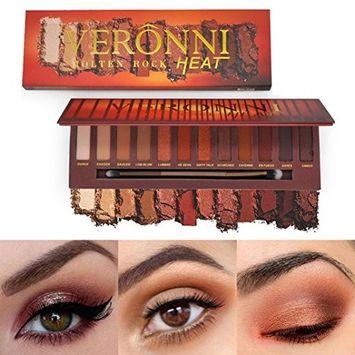 Alonea Shimmer Matte Eyeshadow, 12 Colors Eye Shadow Palette Cosmetic Brush Set