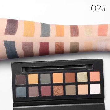 Febecool 14 Colors Pearl Glitter Eye Shadow Powder Palette Matt Eyeshadow Cosmetic Makeup (B)